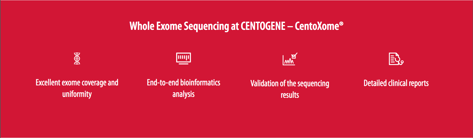Features of Whole Exome Sequencing at Centogene